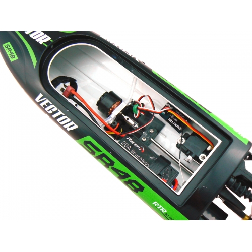 Volantex RC Vector SR48 Brushless RTR ABS Hull 40km/h Self-righting Boat 797-3